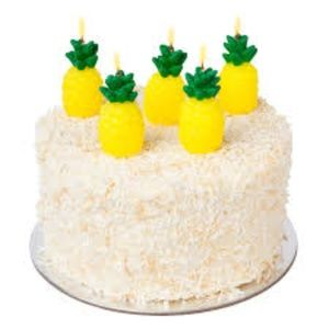 """Sunny Life """"Pineapple"""" cake candles NWT"""